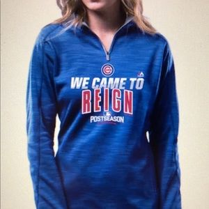 Chi Cubs | Postseason Came to Reign hoodie Sz Med